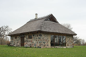 Abruka - The oldest building on Abruka: The Abruka House (Abruka maja).