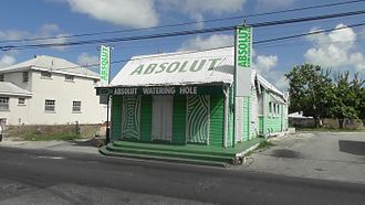 Absolut Vodka - A bar in Worthing, Barbados, in Absolut branding.