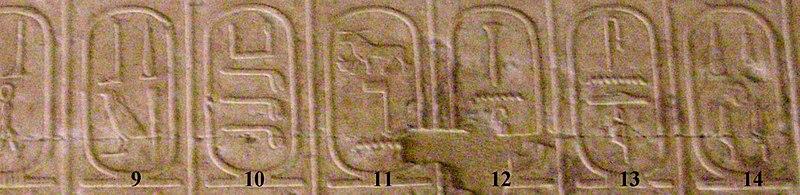 Archivo:Abydos Koenigsliste 9-14.jpg