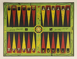 Acey-deucey game similar to backgammon