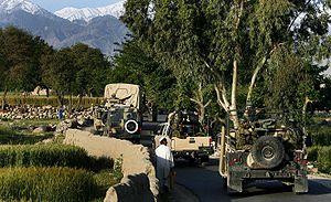 Achin District - CJ-SOTF and ANA 201st Corps patrol in Achin District.