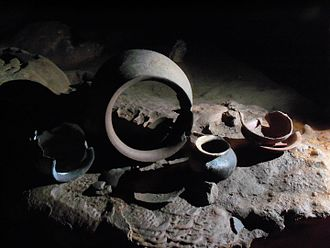 Actun Tunichil Muknal - Maya pottery