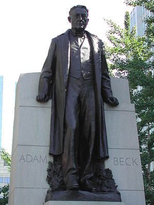 Adam Beck - Image: Adam Beck statue Toronto