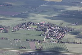 Aerial view, view from the north