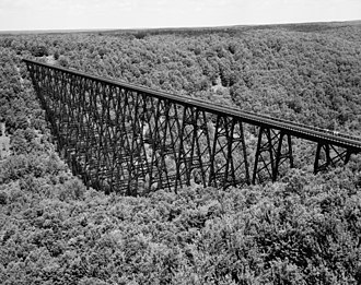 Trestle bridge - Image: Aerial view of Trestle Bridge over Kinzua Creek Valley 01