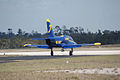Aero Vodochody L-39C Albatros Blue7 Taxi Out 04 TICO 13March2010 (14412784658).jpg
