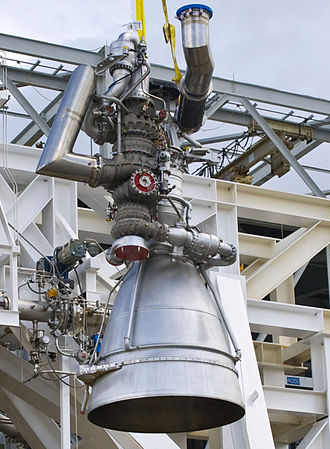 NK-33 - Image: Aerojet AJ26 in the Stennis E 1 Test Stand cropped