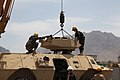Afghan National Army (ANA) students remove the turret on a mobile strike force vehicle for maintenance at the ANA Armored Branch School in Kabul province, Afghanistan, May 7, 2013 130507-A-CL397-862.jpg