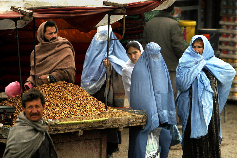 File:Afghan women at market 2-4-09.jpg