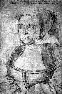 Agnes Dürer German model, wife of Albrecht Dürer