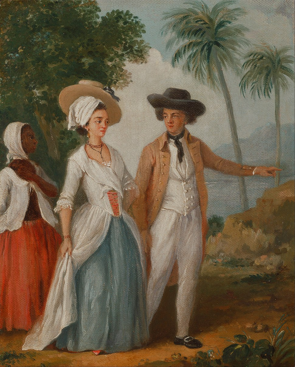 Agostino Brunias - Planter and his Wife, with a Servant - Google Art Project