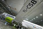 AirBaltic Bombardier CS300 mainenance (33221397075).jpg