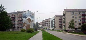 Aizkraukle - Image: Aizkraukle road