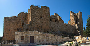 Jordan - Ajloun Castle in Ajloun built by the Ayyubid Muslim leader Saladin in the 12th century AD used for defence against the Crusades.
