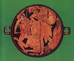 Achilles killing Penthesilea, Antikensammlung, Munich.
