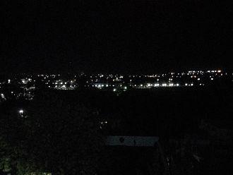 Akola - Night view of Akola junction railway station