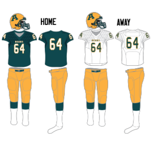 Alberta Golden Bears - Image: Alberta Golden Bears football uniform since 2014