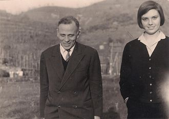 Ernesto de Martino - Ernesto de Martino and Muzi Epifani, 1956, during fieldwork in Lucania