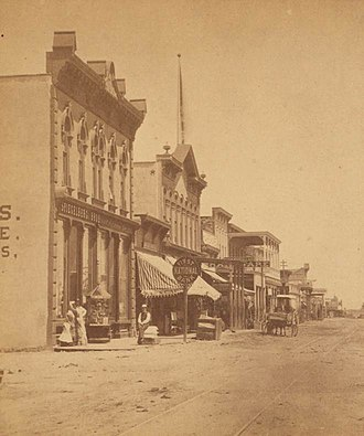 Albuquerque, New Mexico - Downtown Albuquerque in the 1880s