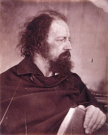 Alfred, Lord Tennyson Alfred Tennyson with book, by Julia Margaret Cameron.jpg
