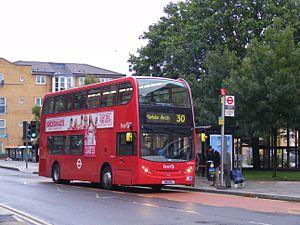 London Buses route 30 - First London Alexander Dennis Enviro400 in Hackney Wick in June 2011