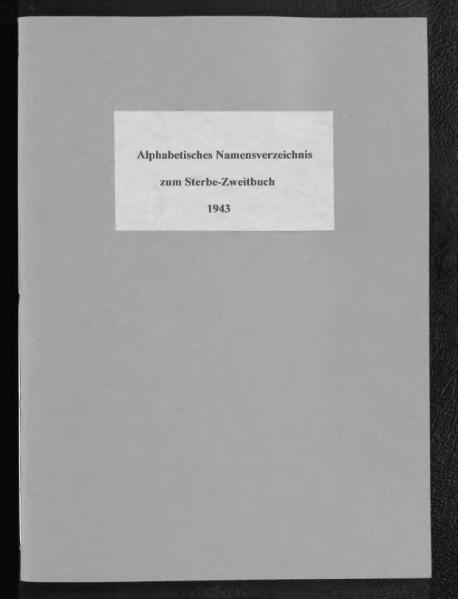 File:Alphabetisches Namensverzeichnis zum Sterberegister des Standesamtes Minden, 1943.djvu