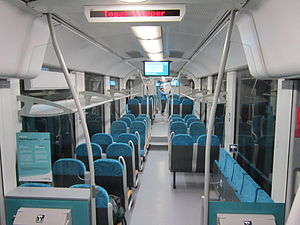 Alstom Coradia LINT - Image: Alstom Coradia LINT interior