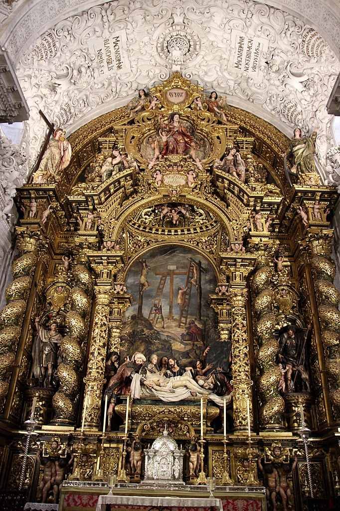 > Maitre autel baroque de l'église San Jorge de l'hopital de la Caridad à Séville. Photo de Miguel Hermoso Cuesta