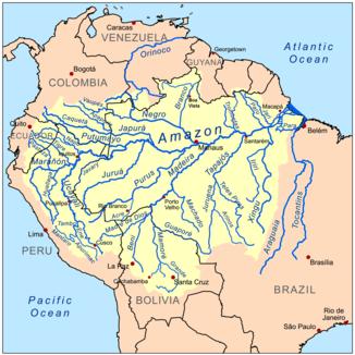 Der Amazonas und sein Einzugsgebiet