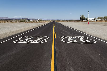 Historic Route 66 near Amboy, California