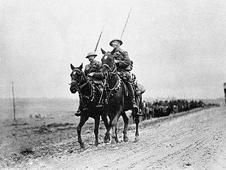 9th Queen's Royal Lancers - 9th Lancers near Prémont in 1918