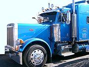 U.S. Peterbilt truck - California