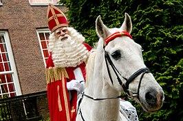 Sinterklaas op Amerigo in 2008 nabij Paleis het Loo in Apeldoorn.