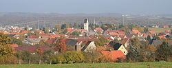 Old village, called Amstetten-Dorf, as seen from the south-west