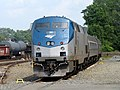 Amtrak Shuttle laying over at Springfield Union Station, August 2018.JPG