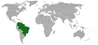Anadenanthera peregrina - Image: Anadenanthera peregrina range map