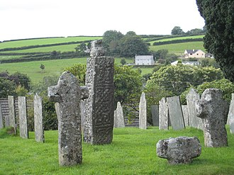 St Neot, Cornwall - Ancient crosses in St Neot churchyard