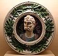 Andrea della robbia, tondo con busto di imperatore, 1492 (napoli, certosa di san martino) 01.jpg