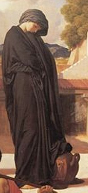 Andromache (play) - Captive Andromache (detail) by Frederic Leighton
