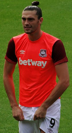 Andy Carroll a West Ham United színeiben 2015-ben