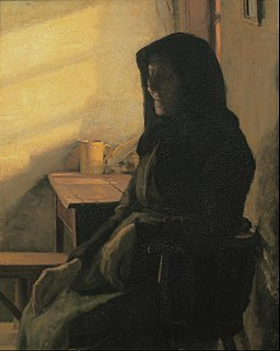 Anna Ancher - A blind woman in her room - Google Art Project