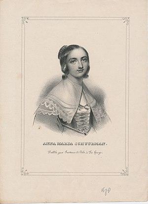 Anna Maria van Schurman - Engraving of Anna Maria van Schurman