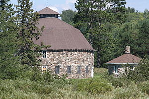National Register of Historic Places listings in Iron County, Wisconsin - Image: Annala Round Barn Buildings Hurley Iron County Wisconsin