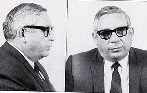 Mugshot of famous US organized crime figure.