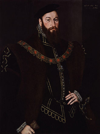 Viscount Montagu - A 1569 portrait of Anthony Browne, 1st Viscount Montagu by Hans Eworth.