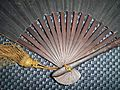 Antique Japanese (samurai) gunsen fan.JPG