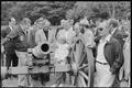 Anwar Sadat, Jimmy Carter, Menahem Begin and other Camp David delegates examine a canon during a trip to the... - NARA - 181178.tif