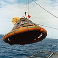 Apollo 11 CM hoisted aboard Hornet (S69-21783).jpg