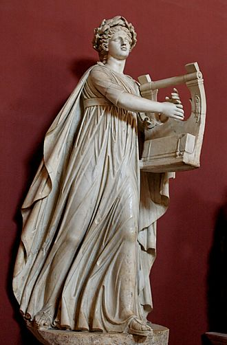 Cithara - Apollo kitharoidos (holding a cithara) and musagetes (leading the Muses). Marble, Roman artwork, 2nd century CE