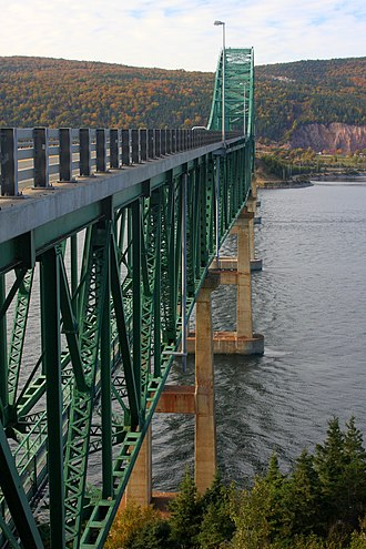 Seal Island Bridge - The Seal Island Bridge as seen from Boularderie Island.